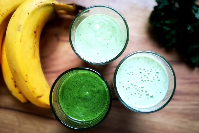 zielony koktajl z jarmużem na 3 sposoby